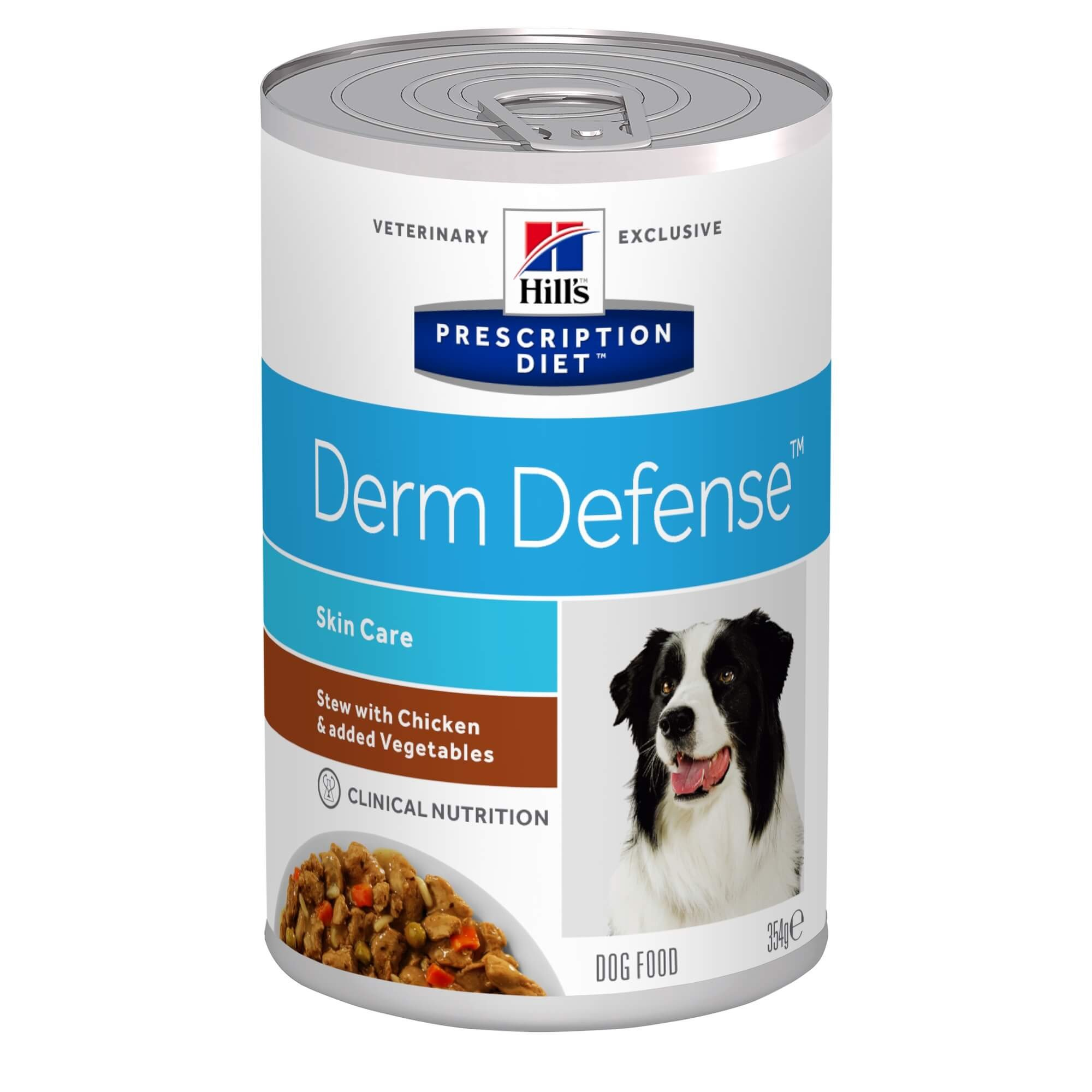Hill's Prescription Diet Derm Defense Stoofpotje 354 g blik hondenvoer