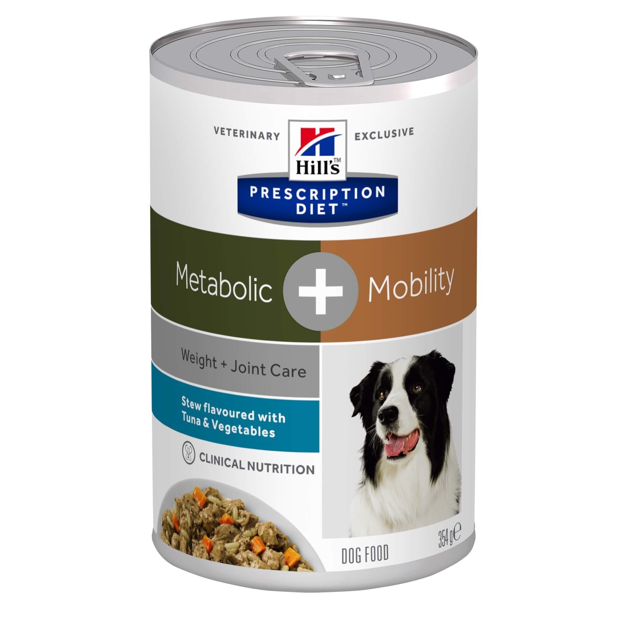 Hill's Prescription Diet Metabolic + Mobility Stoofpotje 354 g blik hondenvoer
