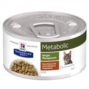 Hill's Prescription Diet Metabolic Stoofpotje 82 g blik kattenvoer