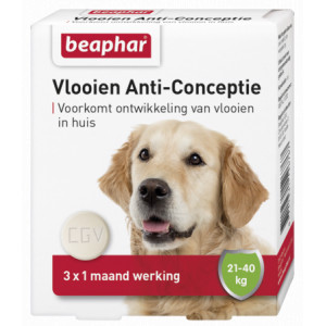Beaphar Vlooien Anti-Conceptie (21 tot 40 kg) hond Per verpakking