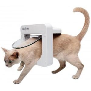 Staywell Pet Porte Microchip Kattenluik wit Per stuk
