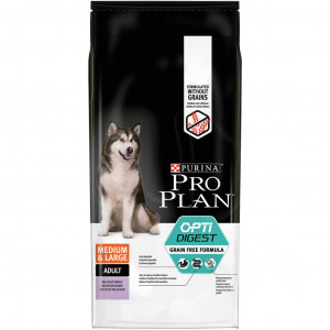 Pro Plan Optidigest Medium & Large Adult Grain Free hondenvoer 2 x 2,5 kg