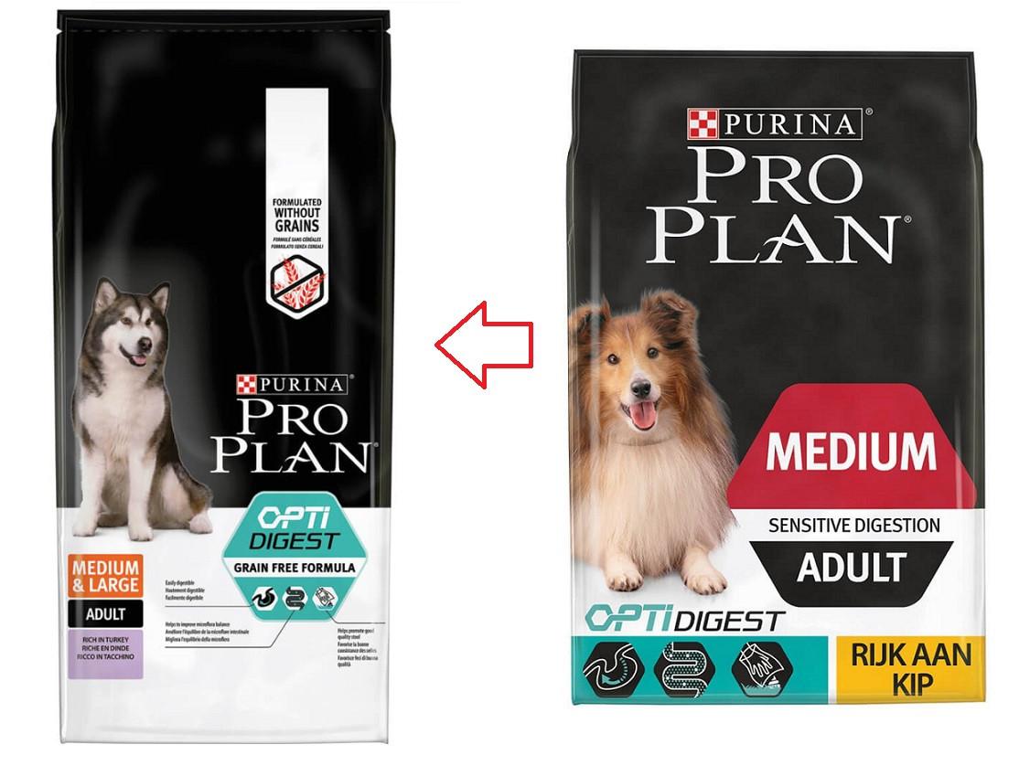 Pro Plan Optidigest Medium Sensitive Digestion Adult Kip hondenvoer
