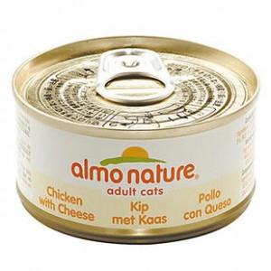 Almo Nature Kip en Kaas per blik (OP is OP)