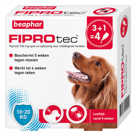 Beaphar Fiprotec Spot-On voor honden van 10 tot 20 kg
