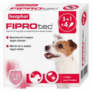 Beaphar Fiprotec Spot-On voor honden van 2 tot 10 kg 3 pipetten