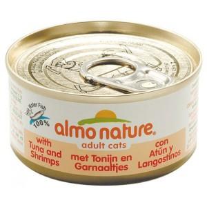 Almo Nature Tonijn en Garnalen per blik (OP is OP)