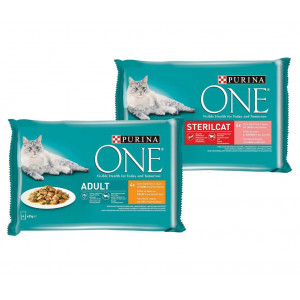 Purina One Pouch Combipack 85g kattenvoer