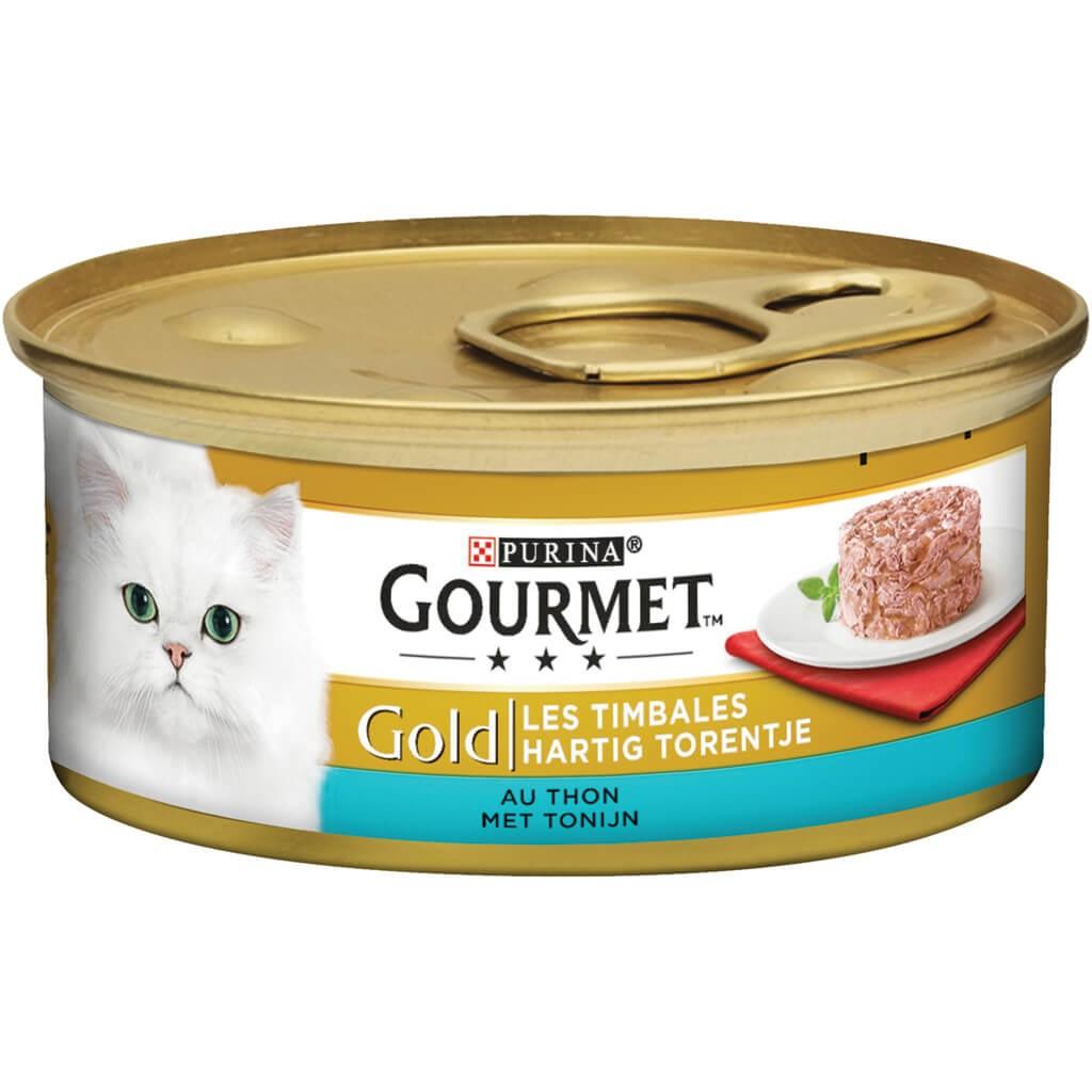 Gourmet Gold Hartig Torentje Tonijn kattenvoer