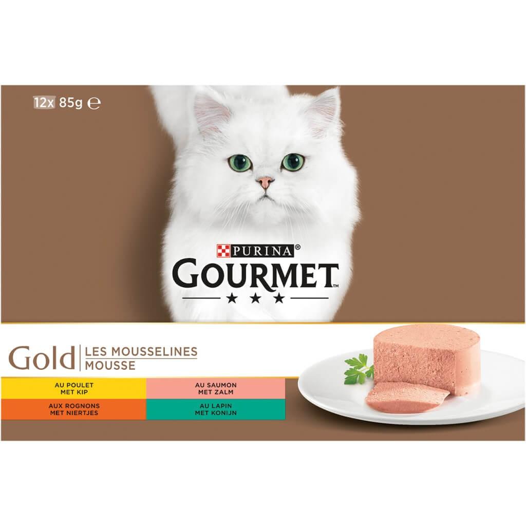 Gourmet Gold 12-Pack Mousse kattenvoer