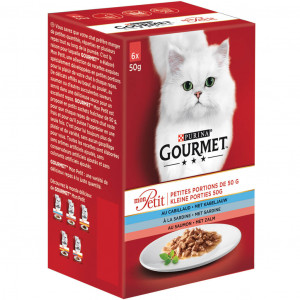 Gourmet Mon Petit Zalm (6x50g) kattenvoer
