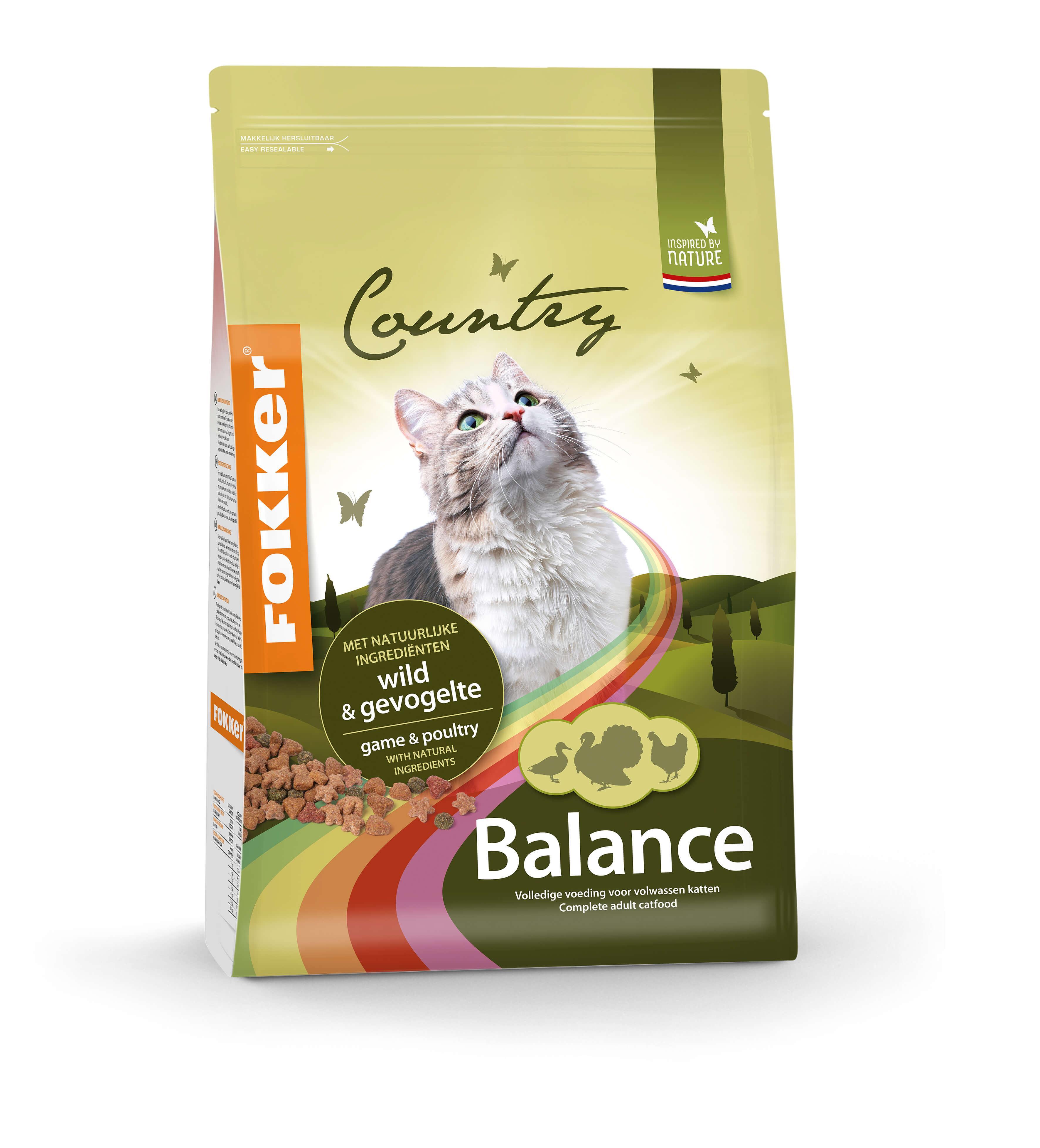 Fokker Country Balance Wild & Gevogelte kattenvoer
