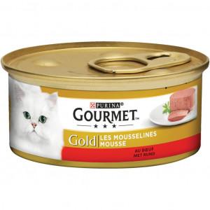 Gourmet Gold Mousse Kalkoen + Rund Combipack Kattenvoer