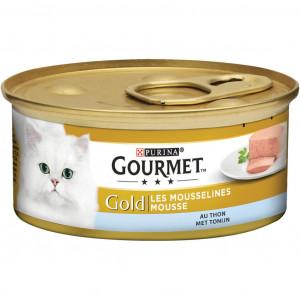 Gourmet Gold Mousse Zalm + Tonijn Combipack kattenvoer