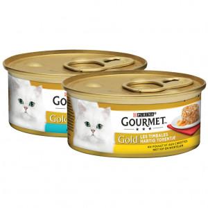 Gourmet Gold Hartig Torentje Combipack kattenvoer 48 x 85 gram