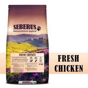 Seberus Fresh Chicken - natuurlijk graanvrij hondenvoer 12 kg + gratis Safety Blinker