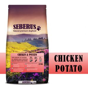 Seberus Chicken & Potato - natuurlijk graanvrij hondenvoer 2 x 12 kg