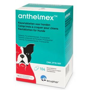 Anthelmex Kauwtabletten voor honden 104 tabletten