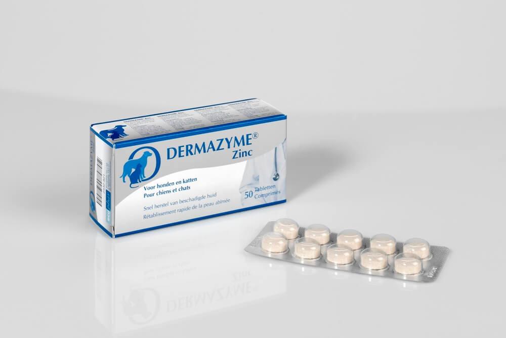 Dermazyme Zinc tabletten voor de hond