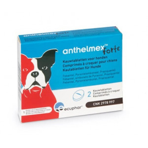 Anthelmex Forte Kauwtabletten voor honden 6 Tabletten