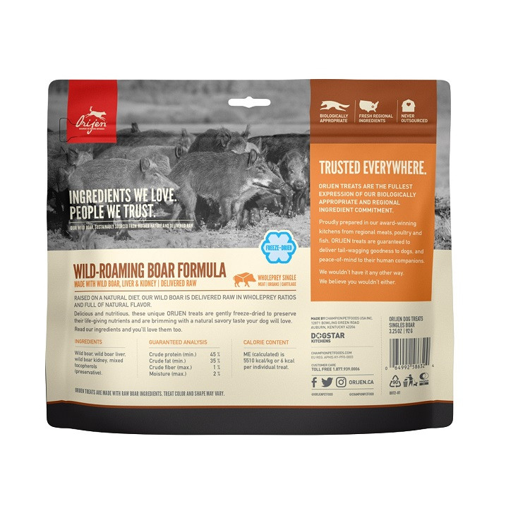 Orijen Wild-Roaming Boar hondensnacks