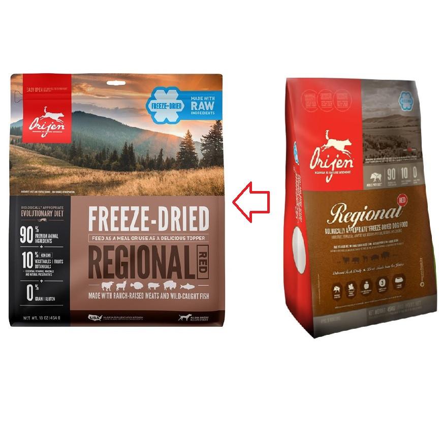 Orijen Freeze-Dried Regional Red hondenvoer