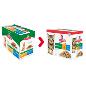 Hill's Kitten Favourite Selection combi kip zeevis nat kattenvoer 85 gr