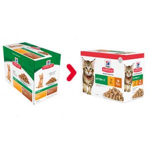 Hill's Kitten Poultry Selection combi kip kalkoen nat kattenvoer 85g