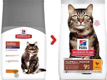 Hill's Mature Adult 7+ Hairball Indoor kip kattenvoer
