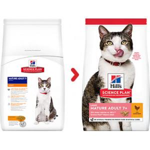 Hill's Mature Adult 7+ Light kip kattenvoer