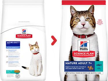 Hill's Mature Adult 7+ tonijn kattenvoer