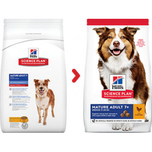 Hill's Mature Adult 7+ Medium kip hondenvoer