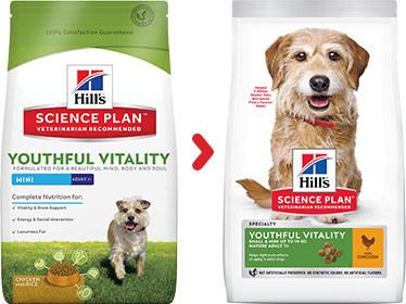Hill's Adult 7+ Youthful Vitality Mini Kip hondenvoer