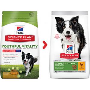Hill's Mature Adult Senior Vitality Medium kip hondenvoer