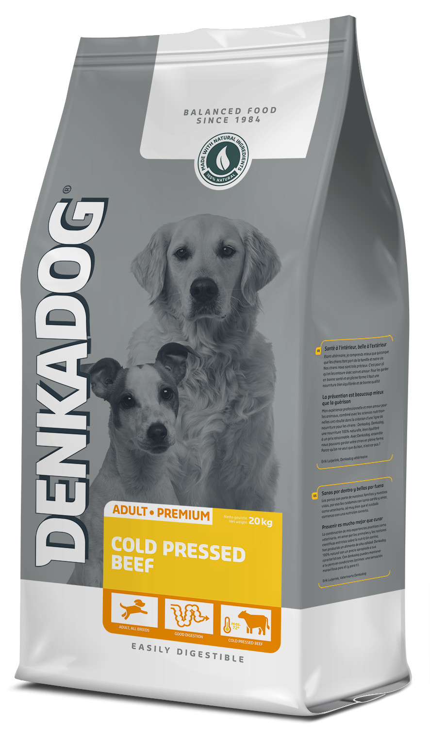 Denkadog Cold Pressed Beef hondenvoer