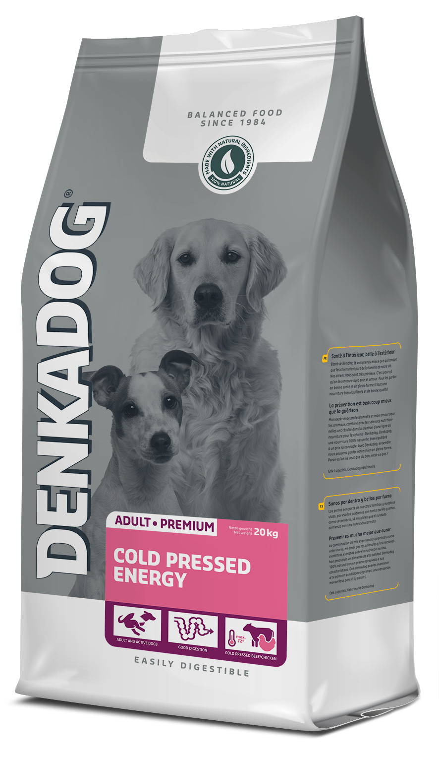Denkadog Cold Pressed Energy hondenvoer