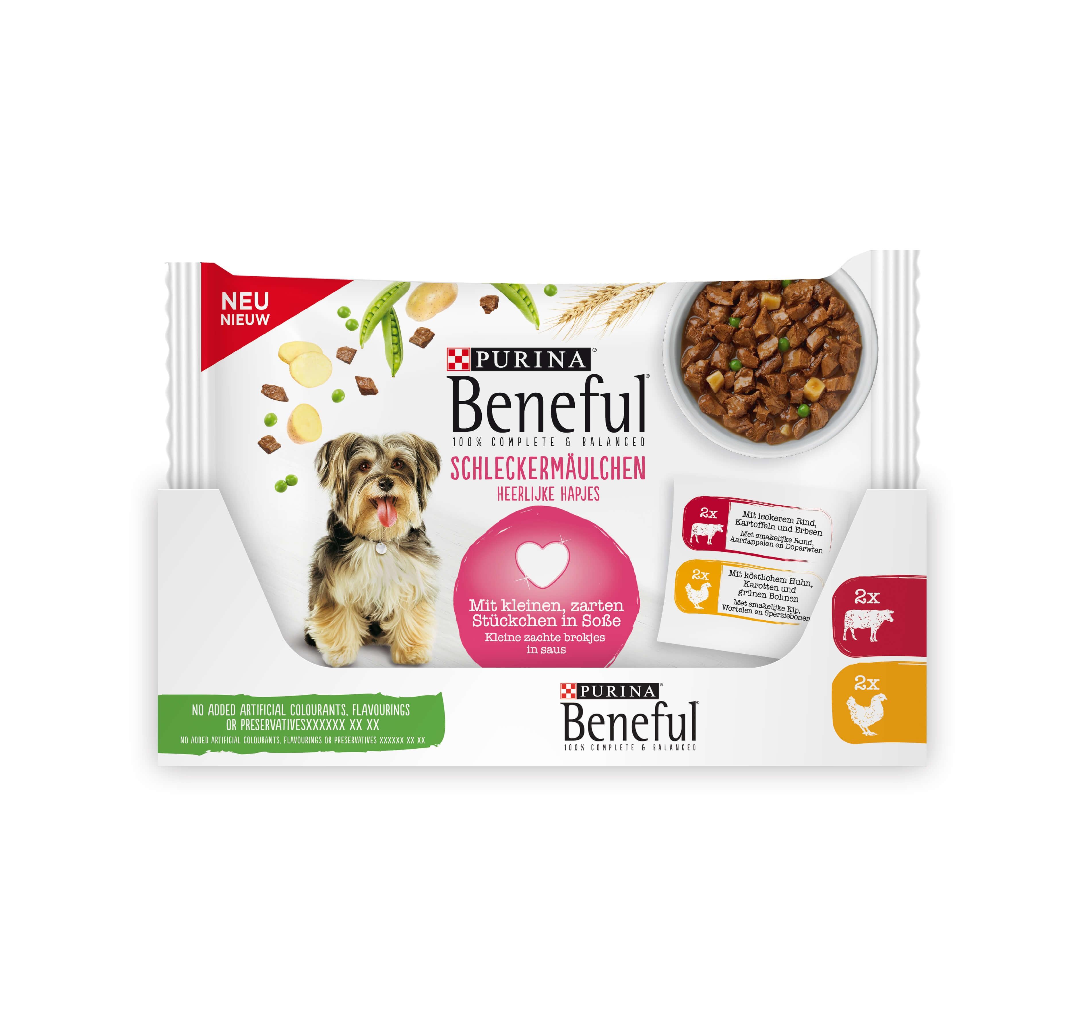 Beneful Pouch Kip/Rund in saus hondenvoer