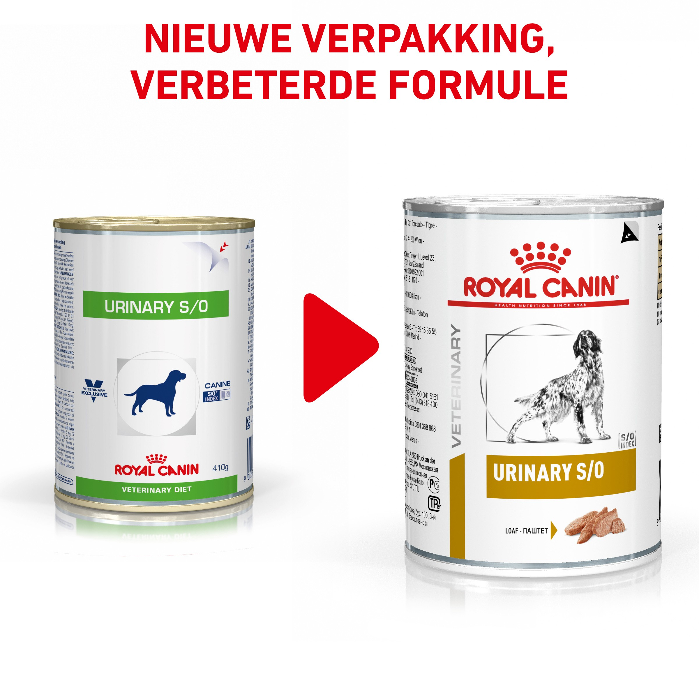 Royal Canin Veterinary Urinary S/O 410 g blik hondenvoer