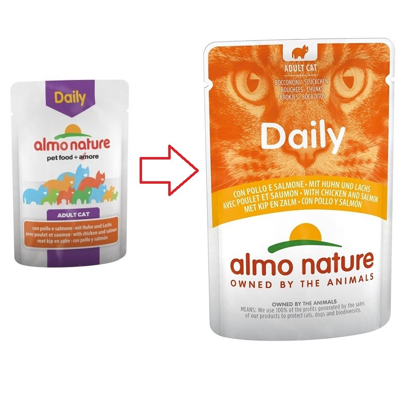 Almo Nature Daily Kip & Zalm 70 gram