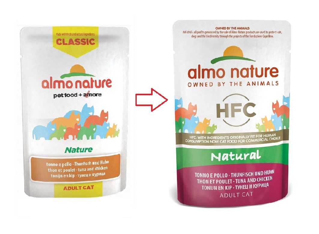 Almo Nature HFC Natural Tonijn & Kip 55 gr