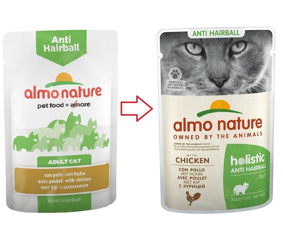 Almo Nature Anti Hairball Kip 70 gram