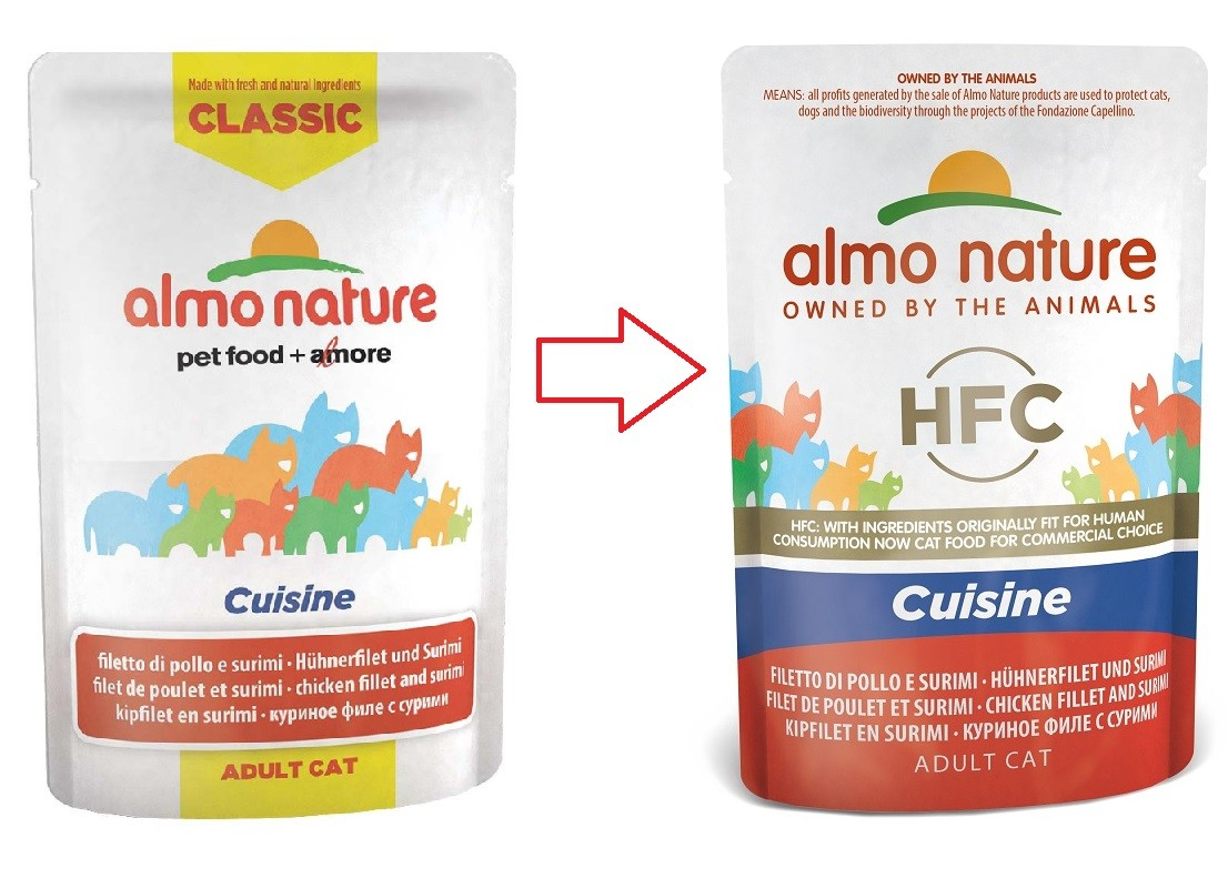 Almo Nature HFC Cuisine Kipfilet & Surimi 55 gram