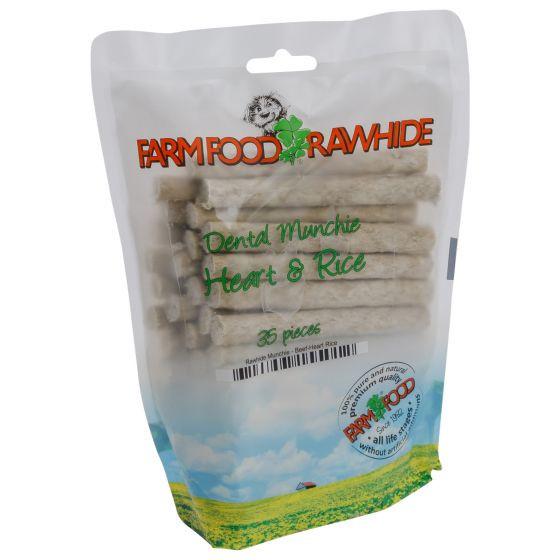 Farm Food Rawhide Dental Munchie Hart - 35 stuks