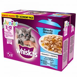 Whiskas Casserole Junior Vis Selectie in Gelei 12 x 85 gram