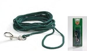 Lange Looplijn groen voor honden