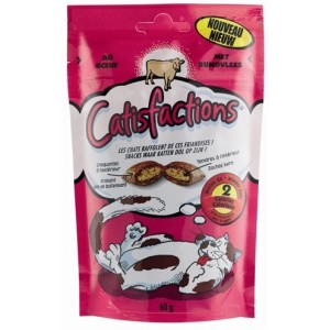Catisfactions Rund kattensnoep Per 4 Catisfactions Kattensnoep Catisfaction