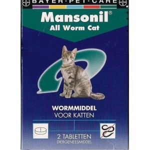 Mansonil All Worm Kat 2 Tabletten