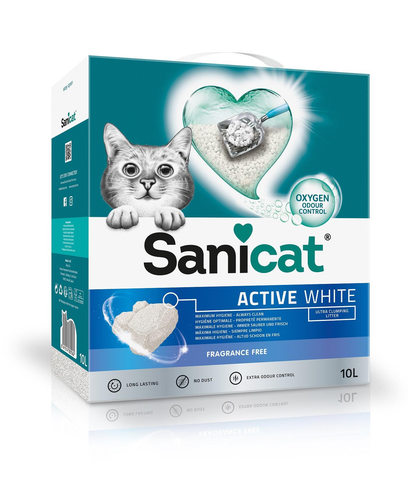 Sanicat Active White kattengrit