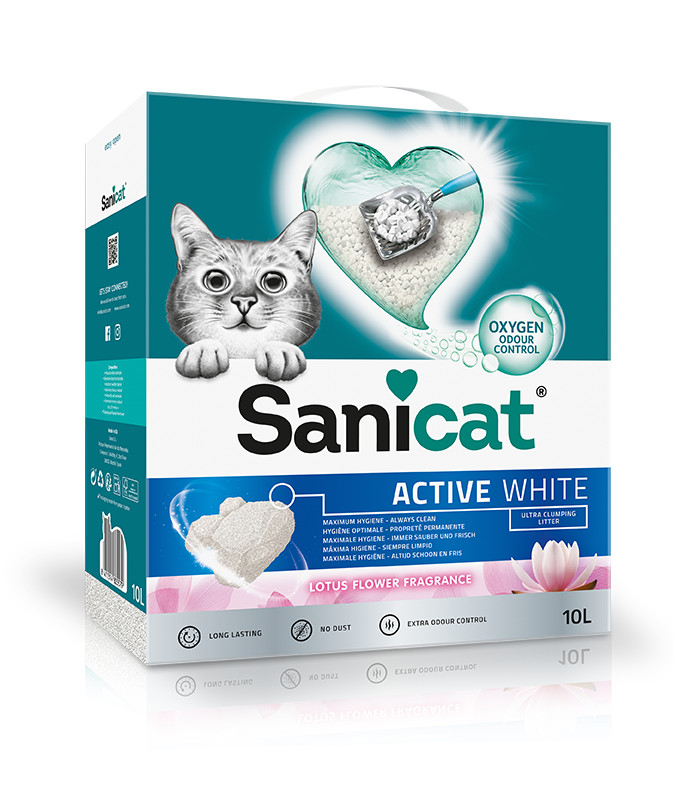 Sanicat Active White Lotus Flower kattengrit