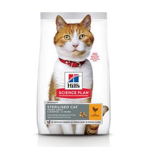 Hill's Young Adult Sterilised Cat met kip kattenvoer